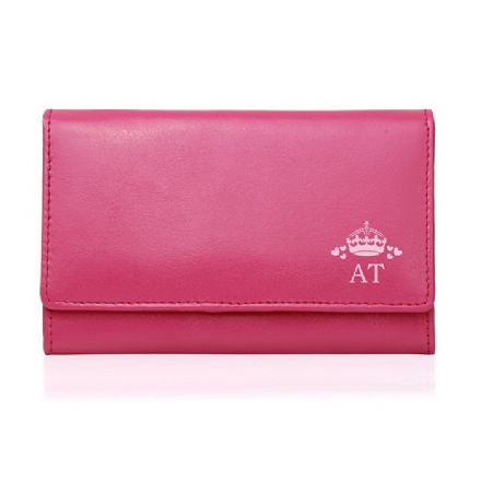 Personalised Crown Pink Purse